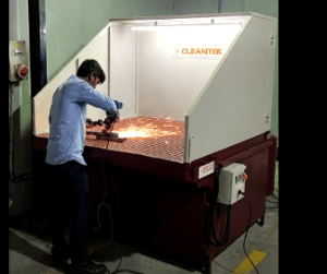 Grinding dust collection