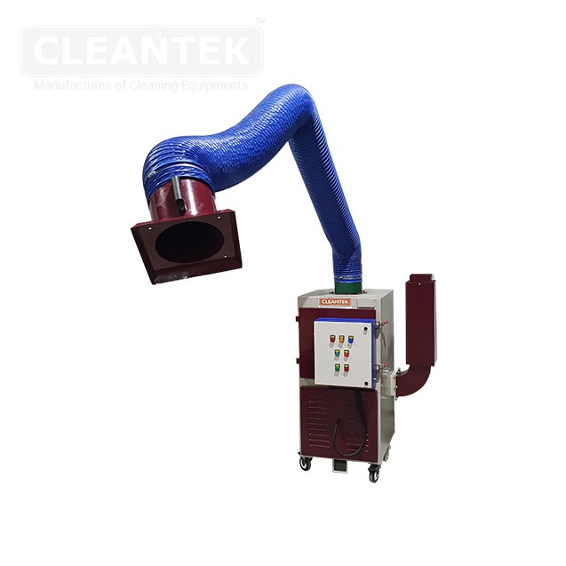 Portable welding fume extractor for welding fume extraction and welding fume exhaust