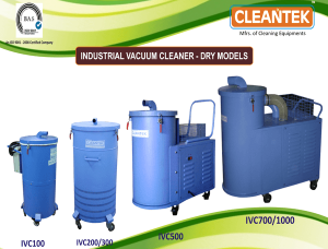 Industrial vacuum cleaner for floor cleaning and industrial cleaning applications