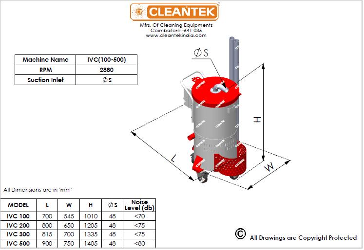 Industrial vacuum cleaner Drawing