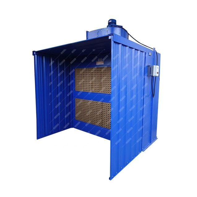 Paint booth for paint fume extraction