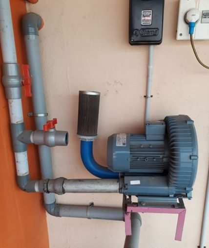 Ring blower for fish pond aeration