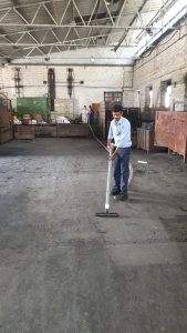 Foundry sand Vacuum cleaning