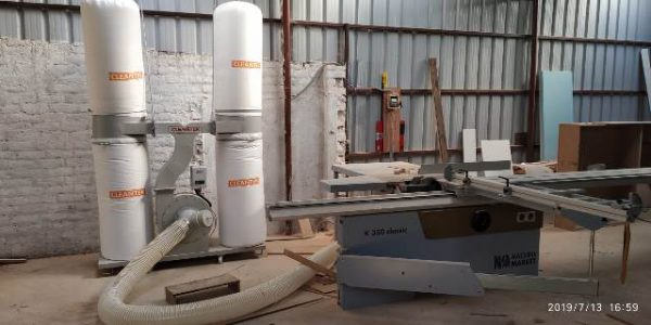 Double bag Dust Collector for wood dust collection