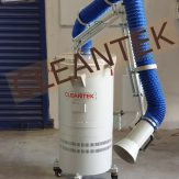 Mobile suction arm dry dust collector