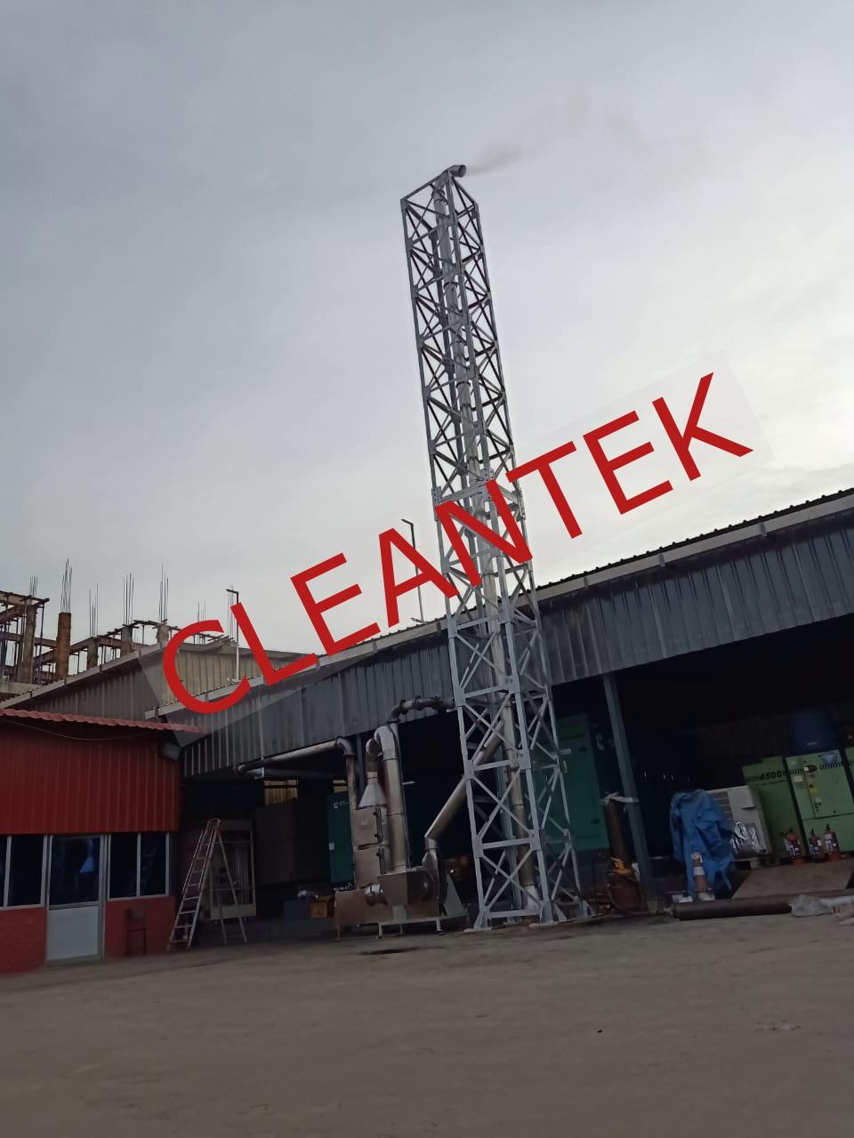 Generator fume wet scrubbing
